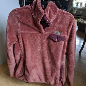 LL Bean fuzzy fleece pullover